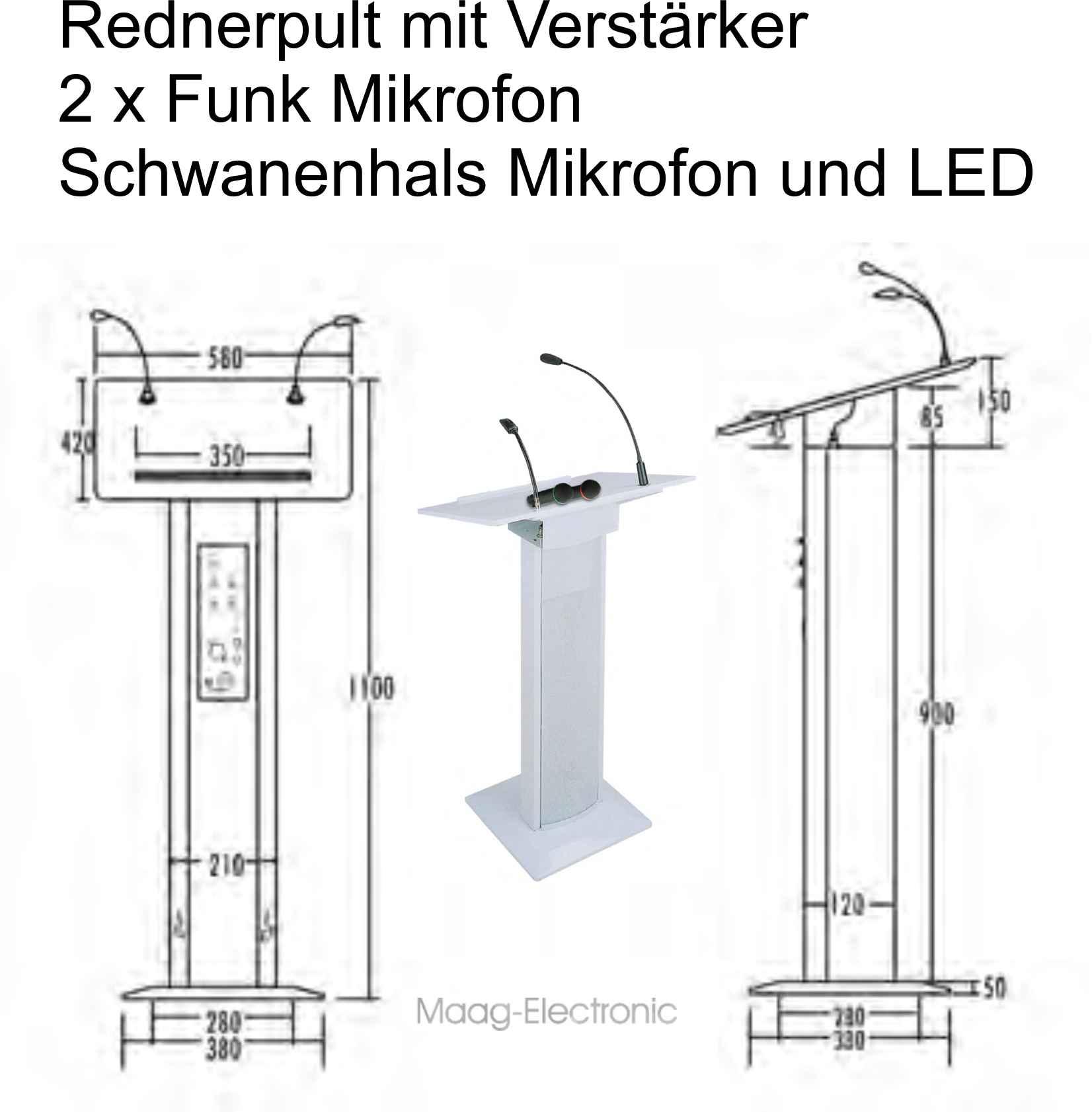 rednerpult verst rker mikro lautsprecher funkmikrofon. Black Bedroom Furniture Sets. Home Design Ideas
