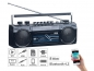 Preview: Retro-Boombox mit Kassetten-Player, Radio, USB, SD & Bluetooth, 8 Watt auvisio Radio-Recorder