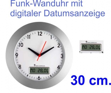tfa funk wanduhr bahnhofsuhr xl 40 cm farbe schwarz mit batterie. Black Bedroom Furniture Sets. Home Design Ideas