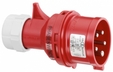 Phasenwender / CEE Stecker , IP44, 16A, 5-polig,400V,6h,rot