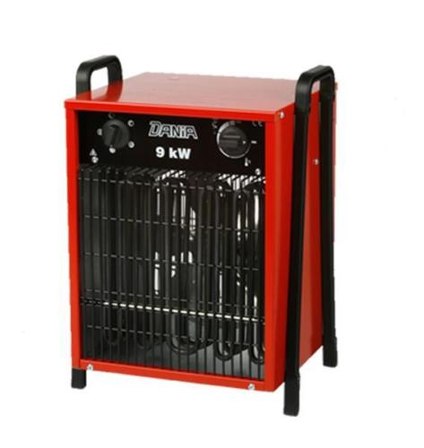 dania 9 0 kw profi elektroheizer bauheizer heizl fter garagenheizer inelco rot. Black Bedroom Furniture Sets. Home Design Ideas
