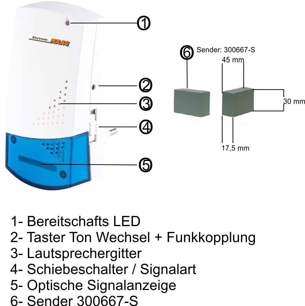 megashop365.de - Klingel Erweiterung per Funk Set mit 2 Empfänger ...