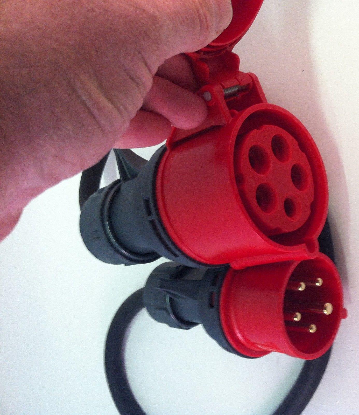 Sehr megashop365.de - CEE Adapter Starkstrom 16 A Stecker auf 32 A Kupplung CA95