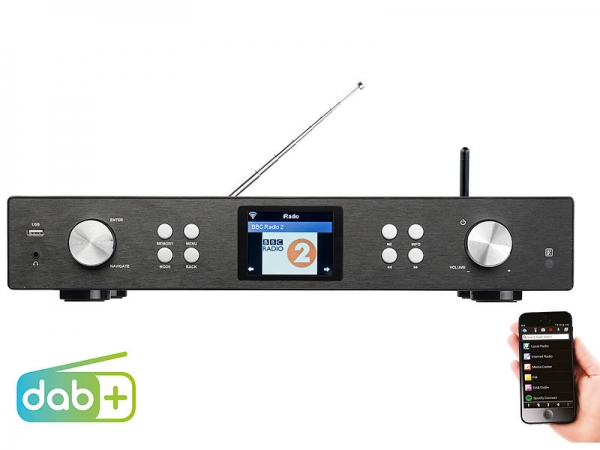 VR-Radio Digitaler WLAN-HiFi-Tuner mit Internetradio, DAB+, UKW, MP3, Streaming